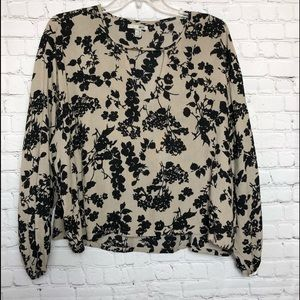 Amuse Society Floral Top Blouse
